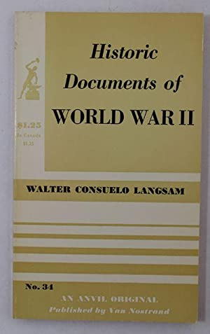 Historic Documents of World War II: Langsam, Walter Consuelo