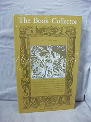 The Book Collector Volume 35 No 3 Autumn 1986 (Vol. 35 Number 3)