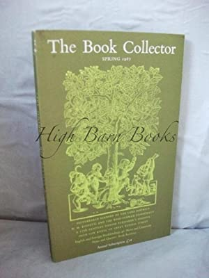 The Book Collector Volume 36 No 1 Spring 1987 (Vol. 36 Number 1)
