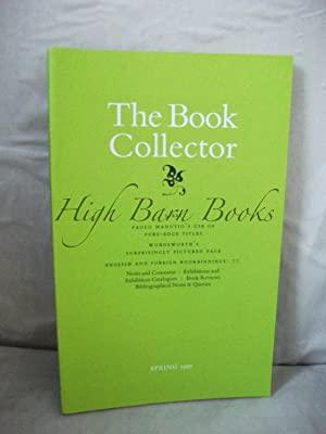 The Book Collector Volume 46 No 1 Spring 1997 (Vol. 46 Number 1)