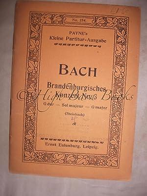 Brandenburgisches Konzert No 3 G dur (Steinbach): Bach, J S