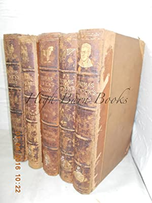 Memorial Edition of Thomas Bewick's Works in 5 Vols. [Volumes I and II: British Birds, Volume III...