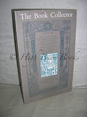 The Book Collector Volume 35 No 1 Spring 1986 (Vol. 35 Number 1)