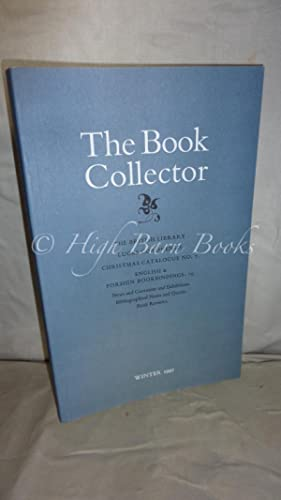 The Book Collector Volume 46 No 4 Winter 1997 (Vol. 46 Number 4)
