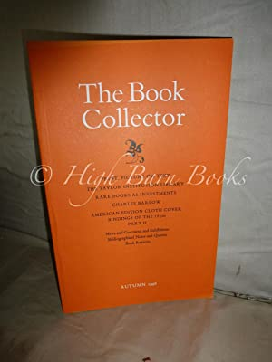 The Book Collector Volume 47 No 3 Autumn 1998 (Vol. 47 Number 3)