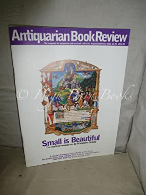 Antiquarian Book Review Volume XXIX Number 7 Issue No 331 August/September 2002