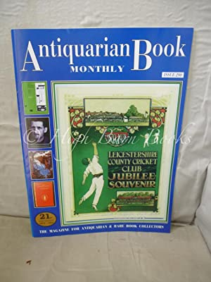 Antiquarian Book Monthly Volume XXV Number 10 Issue No 290 November 1998