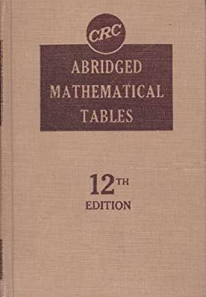 ABRIDGED MATHEMATICAL TABLES: Selby, Ph.D., Samuel