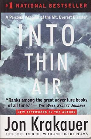 INTO THIN AIR: Krakauer, Jon