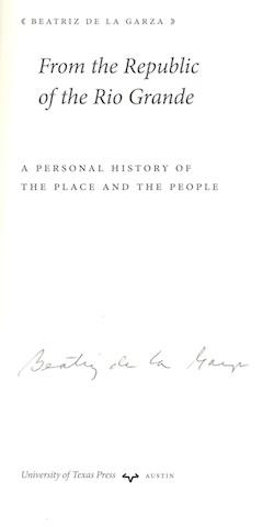 From the Republic of the Rio Grande: A Personal History of the Place and the People (Jack and Doris...