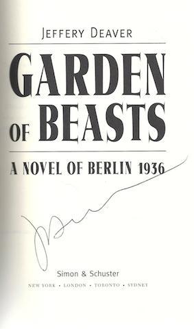 Garden of Beasts: A Novel of Berlin 1936 (Deaver, Jeffery) by Deaver, Jeffery: Jeffery Deaver