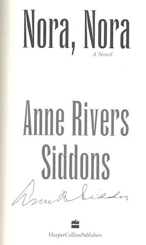 Nora, Nora: A Novel: Siddons, Anne Rivers