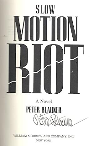 Slow Motion Riot: A Novel: Blauner, Peter
