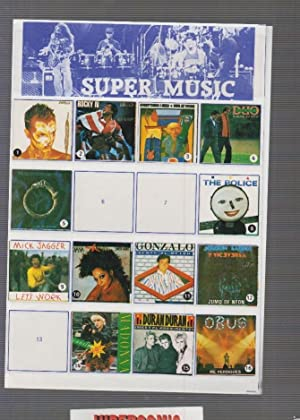 ALBUM DE CROMOS MUSICA - SUPER MUSIC ROCK AÑOS 80 FALTAN 13 DE 72 ( RARO DE ENCONTRAR )