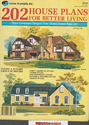 202 HOUSE PLANS FOR BETTER LIVING , CATALOGO DE CASAS DE CAMPO EN INGLES AÑO 1988