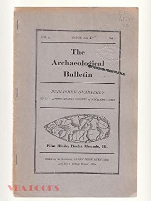 The Archaeological Bulletin, Volume II, Number 2, March, 1911