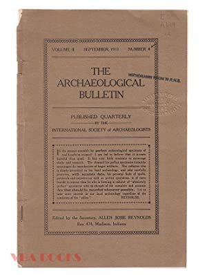 The Archaeological Bulletin, Volume II, Number 4, Sept., 1911
