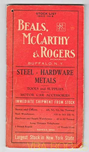 Beals, McCarthy & Rogers Stock List Issue