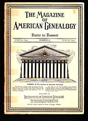 The Magazine of American Genealogy: Number 25,
