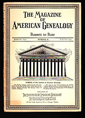 The Magazine of American Genealogy: Number 26,