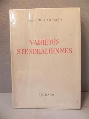 Variétés Stendhaliennes - EO numérotée n° 1.: CARACCIO A.