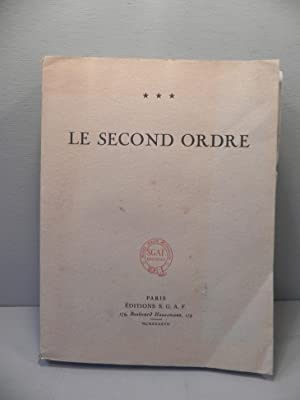 Le Second Ordre.: Anonyme (***)