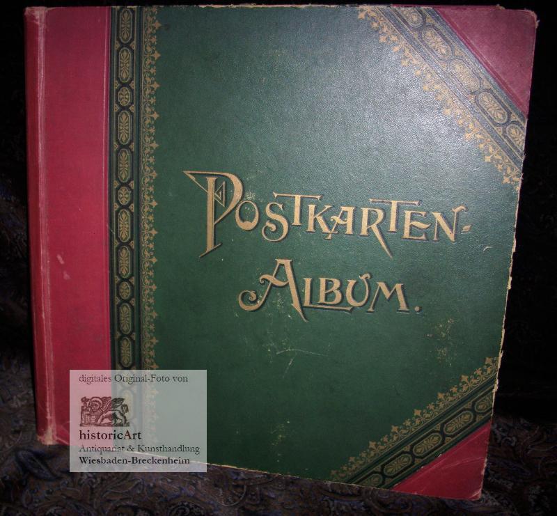 Postkarten-Album. Leeres dekoratives Jugendstil-Album. 34 Kartons für: Anonymus