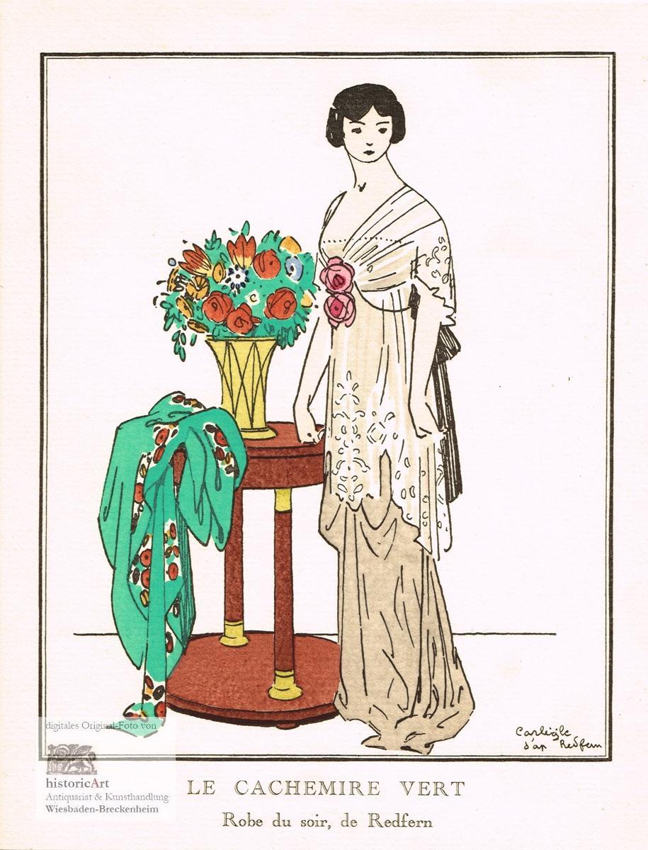 Le Cachemire Vert. Robe du Soir, de: Carl-Emile Egli (1877-1937),