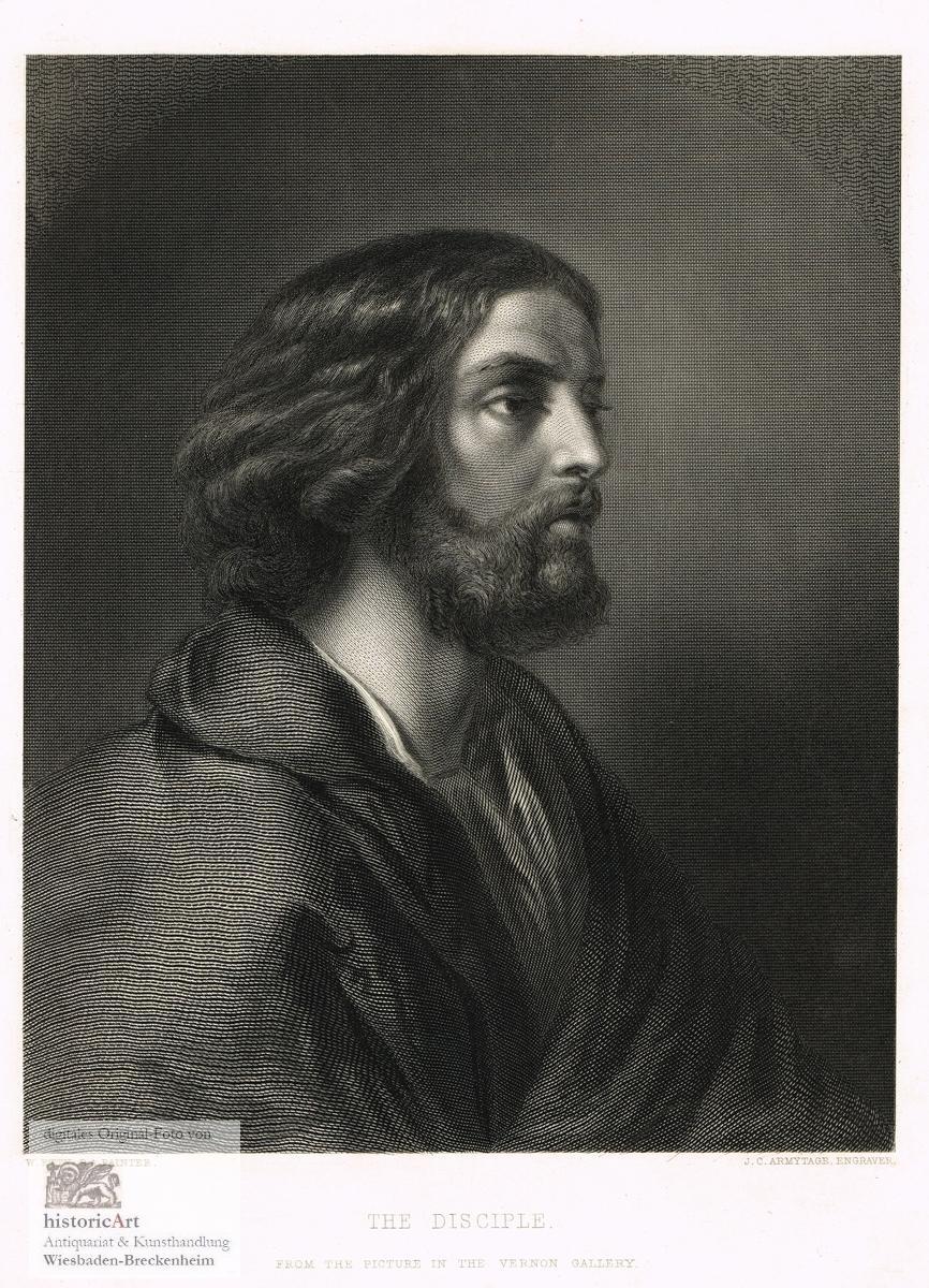 Abraham /& Hagar Originaler Stahlstich von Payne um 1850