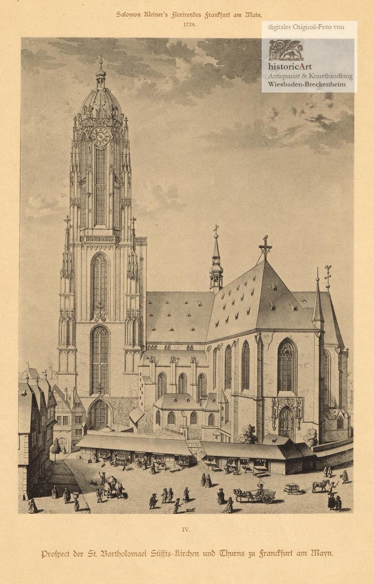 Prospect der St. Bartholomaei Stiffts=Kirchen und Thurns: Salomon Kleiner (1700-1761),