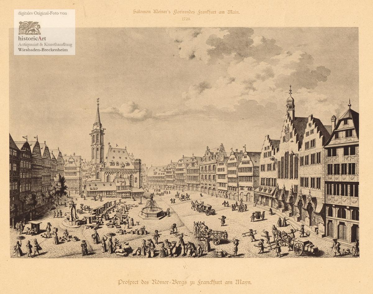 Prospect des Römer=Bergs zu Franckfurt am Mayn.: Salomon Kleiner (1700-1761),