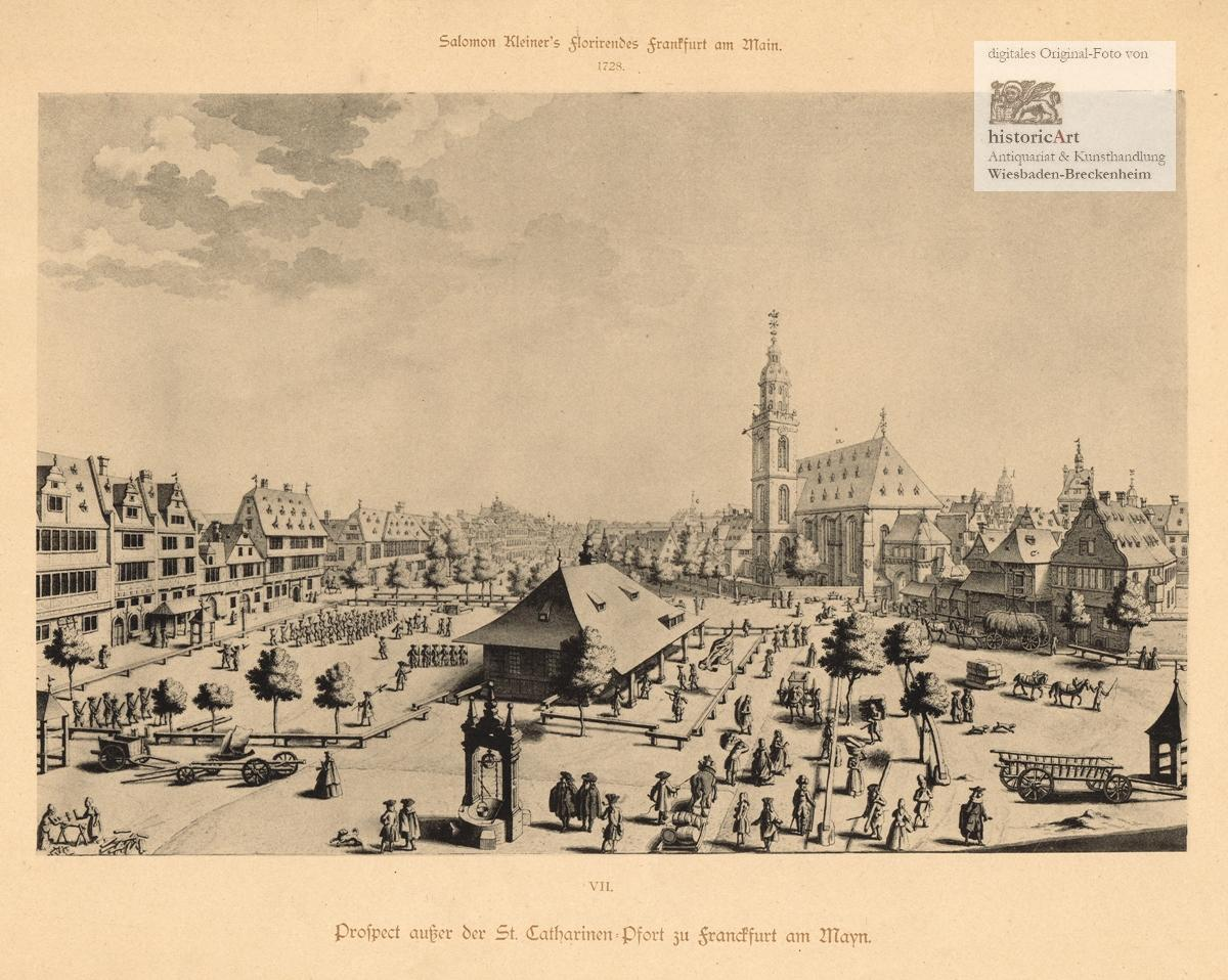 Prospect außer der St. Catharinen=Pfort zu Franckfurt: Salomon Kleiner (1700-1761),