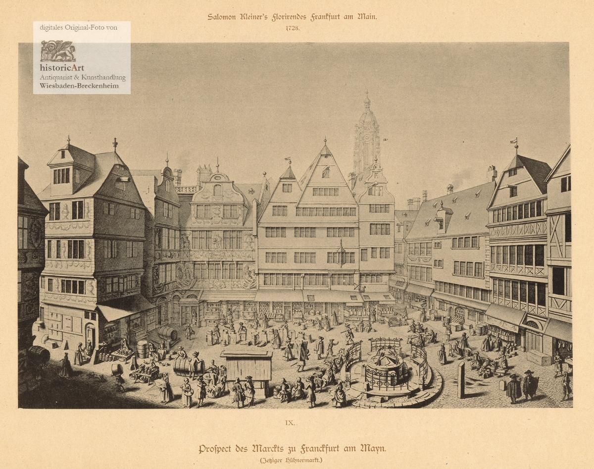 Prospect des Marckts zu Franckfurt am Mayn: Salomon Kleiner (1700-1761),