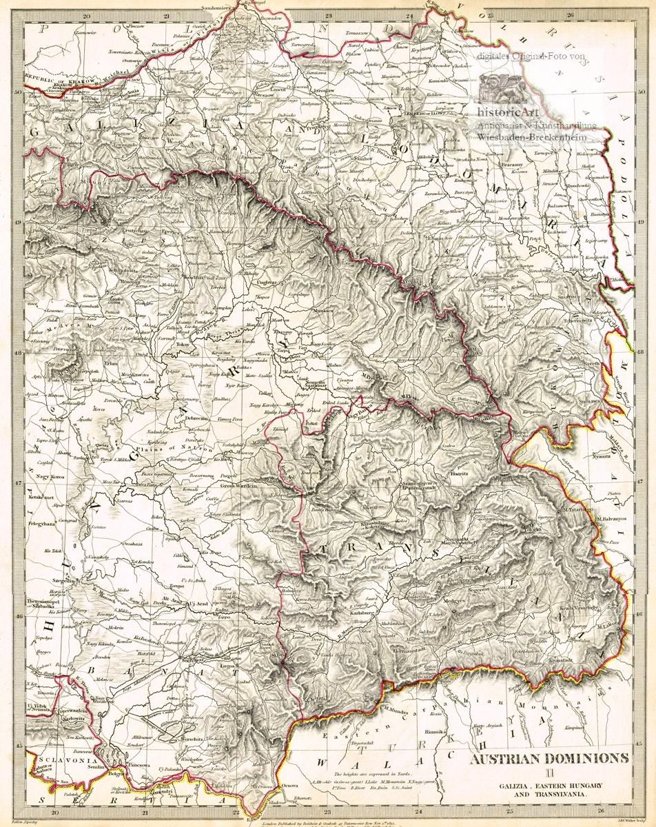 Austrian Dominions Ii Galizia Eastern Hungary And Transylvania