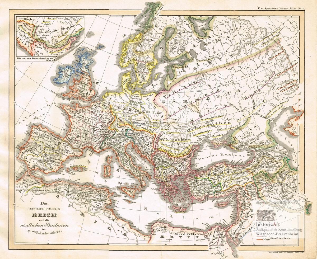 Das Roemische Reich Und Die Nordlichen Barbaren Im Ivten