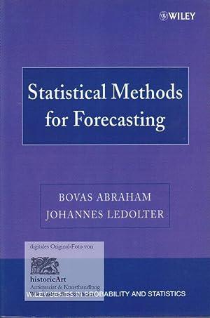 Statistical Methods for Forecasting: Abraham, Bovas; Ledolter,