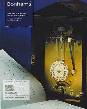 Morse to Marconi and Scientific Instruments. Thursday: Bonhams