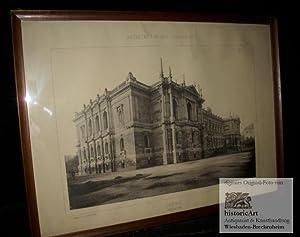 Leipzig. Museum. Großer Original-Lichtdruck nach einer Fotographie: Hugo Licht (Architekt)