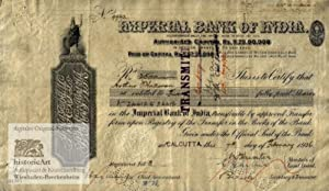 Imperial Bank of India. Incorporated under the Imperial Bank of India Act, 1920. Namensaktie über...