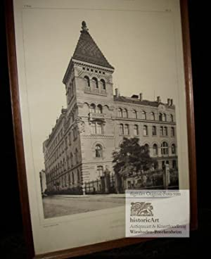 Leipzig. Polizeiamt. Gebäudeansicht von der Straße aus.: Hugo Licht (Architekt)