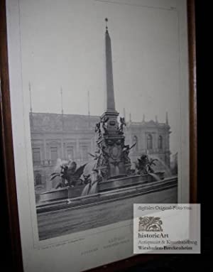 Leipzig. Fontaine Mendebrunnen Fountain. Frühe Ansicht des: Adolf Gnauth und