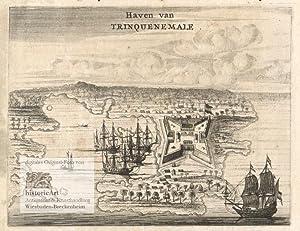 Haven van Trinquenemale. Ansicht von Fort Frederick: Philipp Baldaeus (1632-1671),