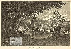 Villa Pamfili Doria. Schöne Ansicht des großzügigen: John Singer Sargent