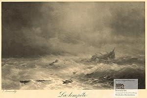 La tempete. Dramatische Szene eines Schiffsuntergangs im: Ivan Konstantinovich Aivasovsky