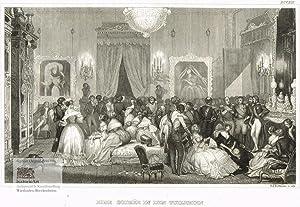 Eine Soiree in den Tuilerien (Paris). Abendveranstaltung von Adeligen in den Tuilerien. ...
