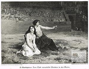 Zum Tode verurteilte Christen in der Arena.: Richard Bong (1853-1935),