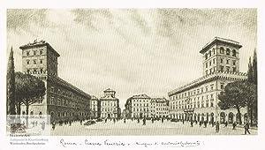 Roma. Piazza Venezia. Ansicht des belebten Platzes: Antonio Carbonati (1893-1956),