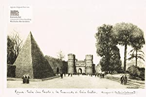 Roma. Porta San Paolo e la Piramide: Antonio Carbonati (1893-1956),