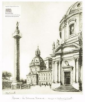 Roma. La Colonna Traiana. Ansicht der Trajanssäule: Antonio Carbonati (1893-1956),