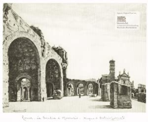 Roma. La Basilica di Massenzio. Ansicht der: Antonio Carbonati (1893-1956),